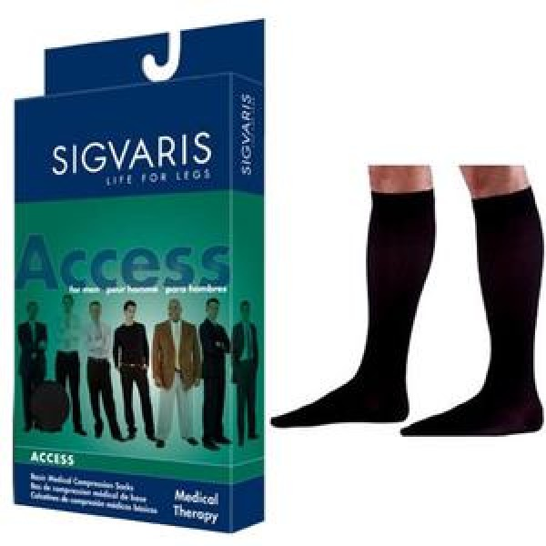 970 Access Series Men's Knee High Compression Socks - 922C CLOSED TOE 20-30 mmHg by Sigvaris