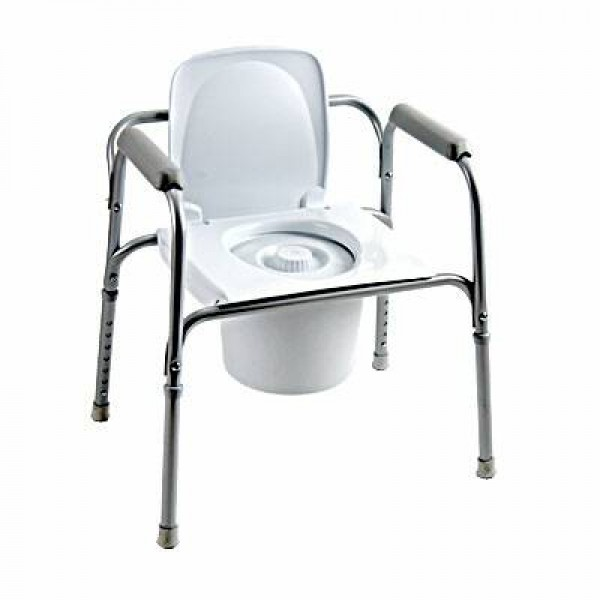 All-In-One Aluminum Commode by Invacare