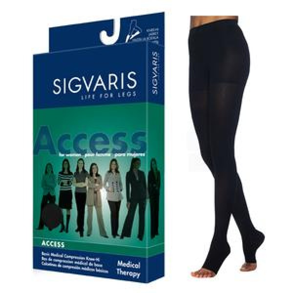 970 Access Series Unisex Thigh High Compression Stockings - 972N OPEN TOE 20-30 mmHg by Sigvaris