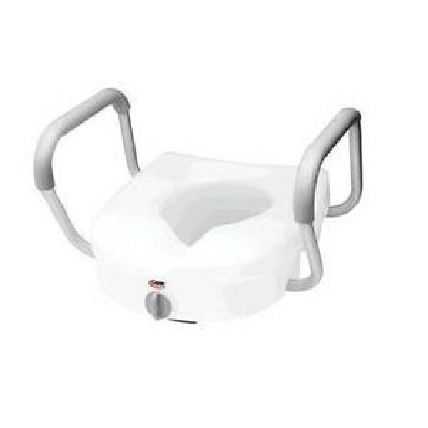 Carex EZ Lock Raised Toilet Seat