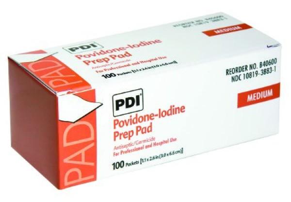 Professional Disposables Povidone Iodine PVP Prep Pad - 10%