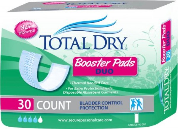 Secure Personal Care TotalDry Booster Pads Duo