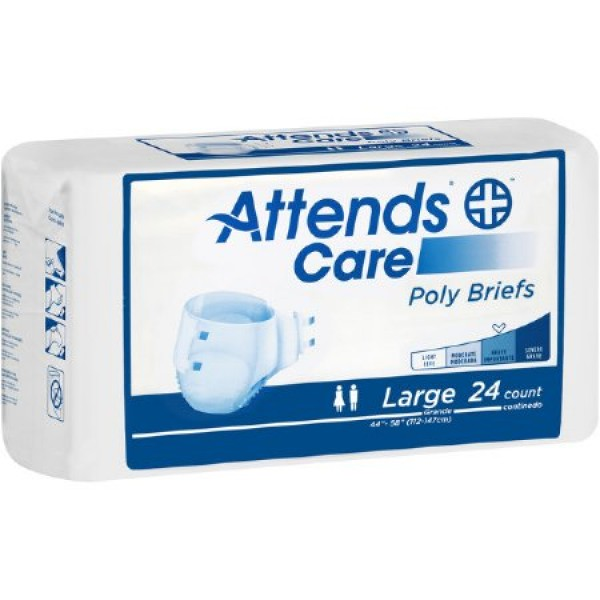 Attends Healthcare Products Attends Care Poly Briefs Heavy Absorbency
