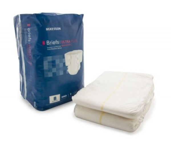 Ultra Plus Bariatric Briefs Heavy Absorbency by McKesson