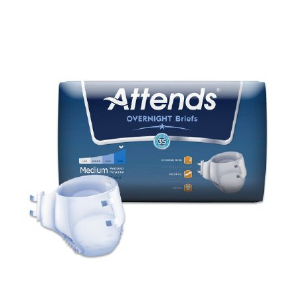Attends Healthcare Products Attends Overnight Breathable Briefs Super Absorbency
