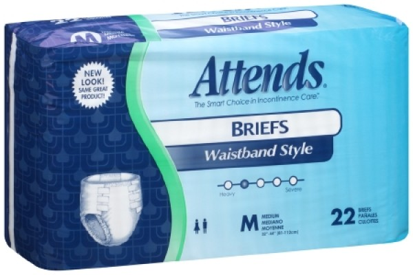 Attends Healthcare Products Attends Briefs with Waistband Heavy Absorbency