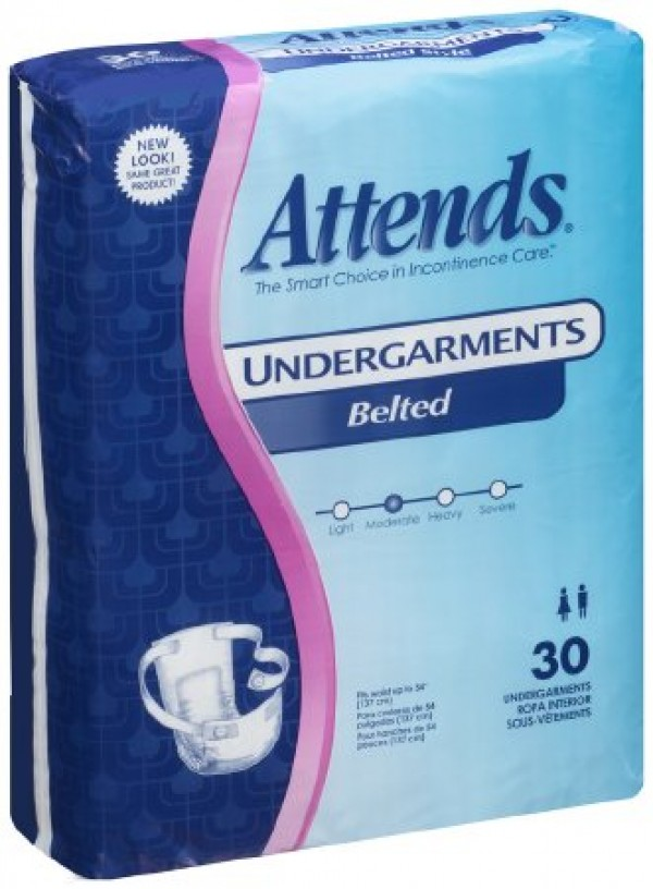 Attends Healthcare Products Attends Non-Adjustable Belted Undergarments Moderate Absorbency
