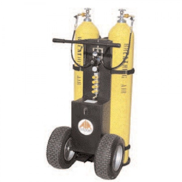 Air Systems MULTI-PAK 2-Bottle Air Cart 4500psi W/2-Outlet Manifold CGA-347 Hand-Tight Nuts W/Out Cylinders