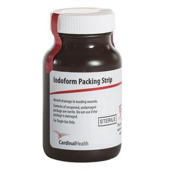 CardinalHealth Cardinal Health Iodoform Gauze 1/2 in x 5 yd Packing Strips - CPG125I