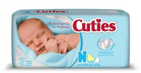 First Quality Cuties Disposable Baby Diapers
