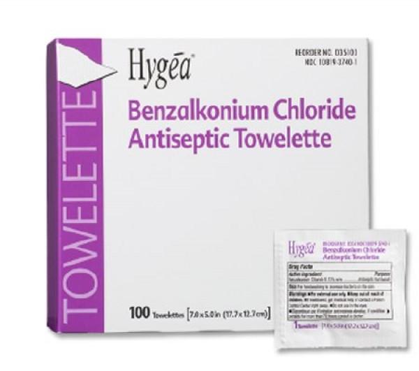 Professional Disposables Hygea BZK Sanitizing Skin Wipe