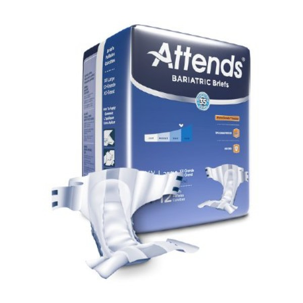 Attends Healthcare Products Attends Bariatric Briefs Dermadry Heavy Absorbency