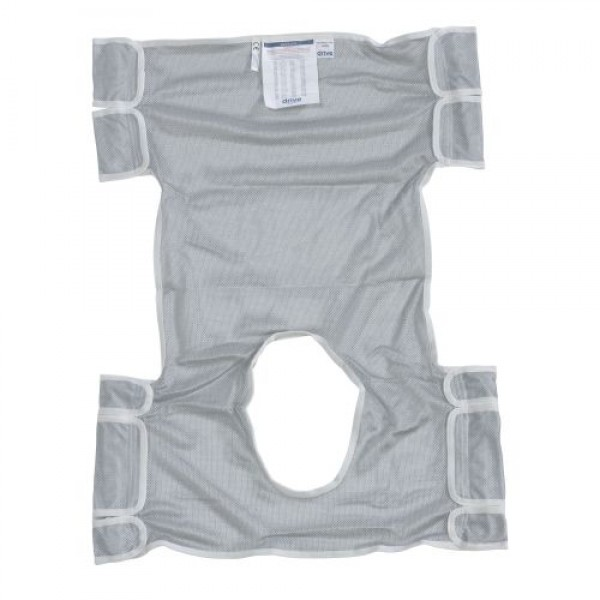 Drive Patient Lift Sling with Commode Opening