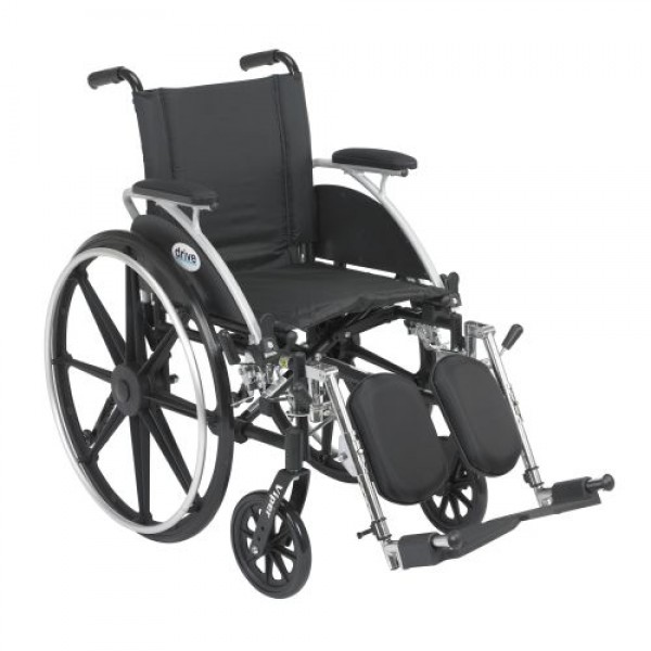 Drive Viper Wheelchair with Flip Back Removable Arms