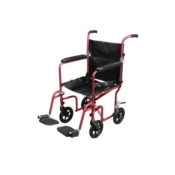 Drive Flyweight Lightweight Transport Wheelchair with Removable Wheels