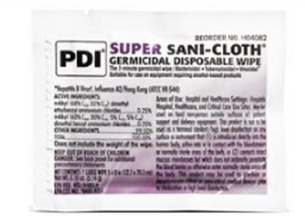 Professional Disposables Super Sani-Cloth Disinfectant Wipes