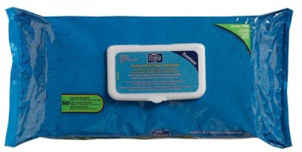 Professional Disposables Hygea Disposable Bath Wipes - Soft Pack Flip Top Lid