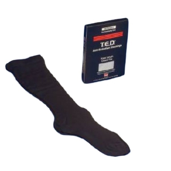 TED Black Knee High Compression Closed Toe Stocking