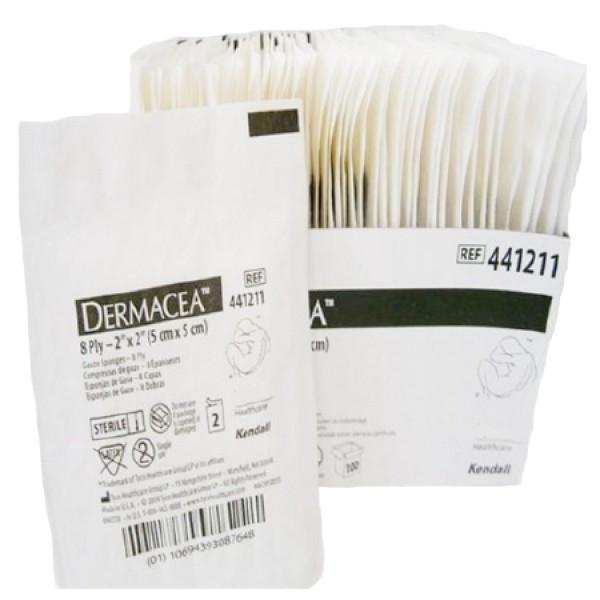 Covidien 8-Ply Dermacea Gauze Sponge 2x2-Sterile