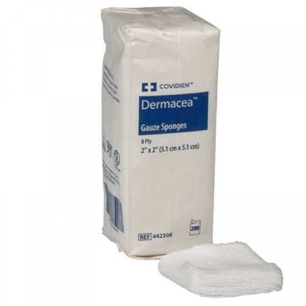 Covidien 8-Ply Dermacea Gauze Sponge 2x2-Nonsterile
