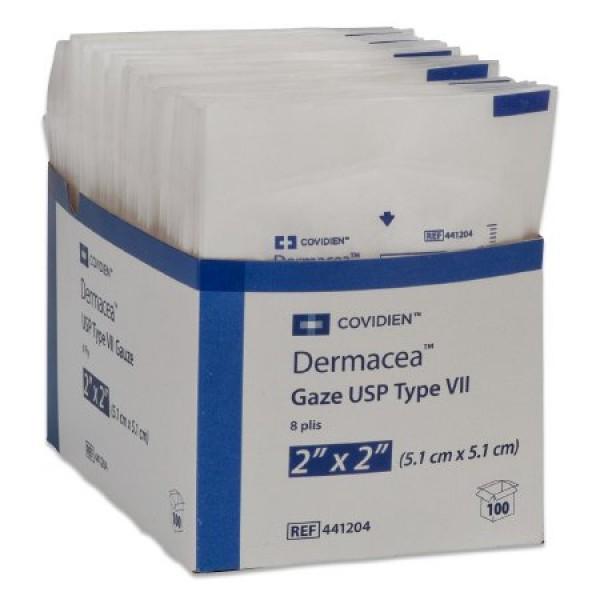 Sterile USP Type VII Gauze Sponges 2 x2 Inch 8 Ply Dermacea