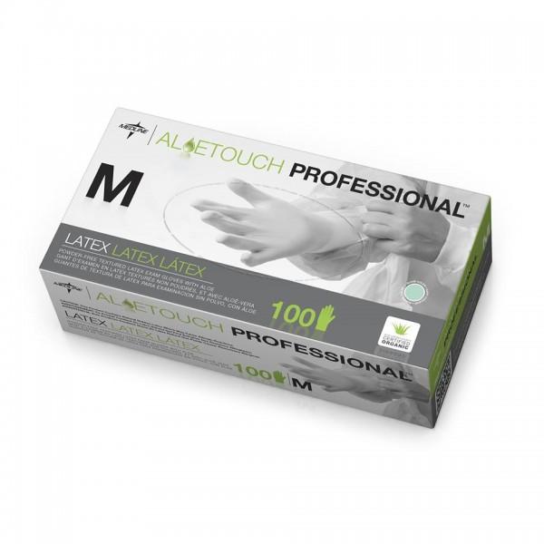 MedLine Aloetouch Powder-Free Latex Exam Gloves