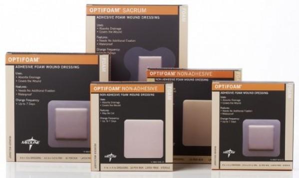MedLine Optifoam Adhesive Dressings, Sterile