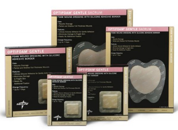 MedLine Optifoam Gentle Border Adhesive Dressings, Latex Free