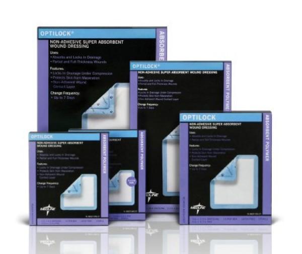 MedLine OptiLock Non-Adhesive Dressings, Latex Free