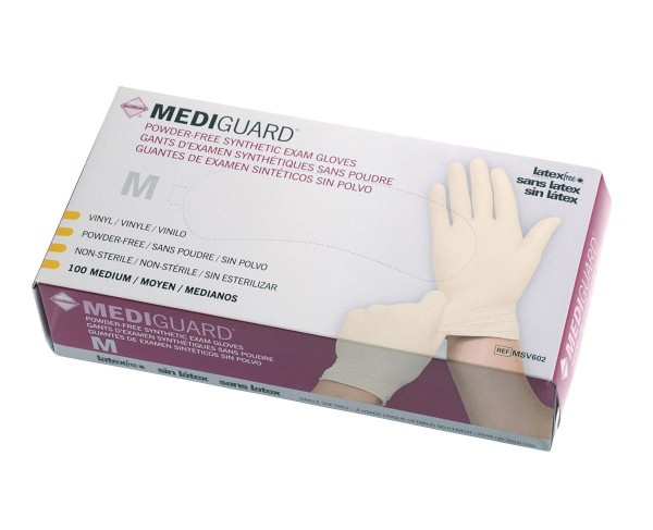 MedLine MediGuard Synthetic Exam Gloves, Latex Free
