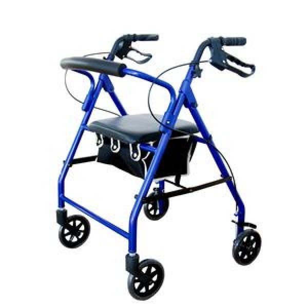 Invacare Supply Group Soft Seat Aluminum Rollator with Straight Backrest