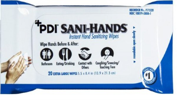 Professional Disposables Sani-Hands Sanitizing Skin Wipe