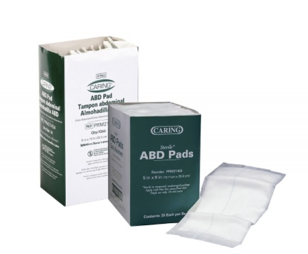 MedLine Caring ABD Pads - Tampon Abdominal Almohadilla - Sterile