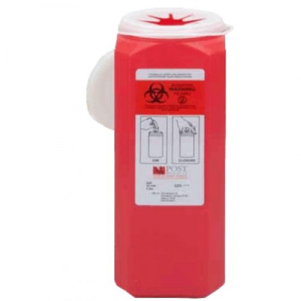 Post Medical 2 Quart Red Sharps Container with Snap Tite Lid SL200