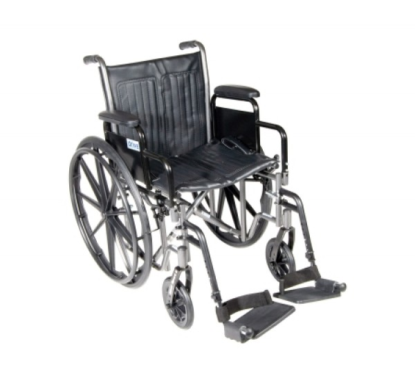 Drive Medical Silver Sport 2 Wheelchair with Various Arms Styles and Foot Rigging Options