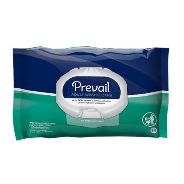First Quality Prevail Adult Washcloths with Aloe, Chamomile and Vitamin E