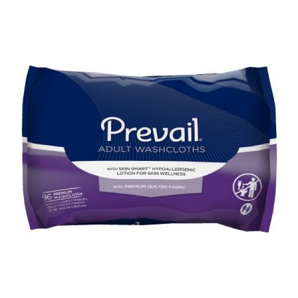 First Quality Prevail Quilted Large Washcloths with Lotion - Refill