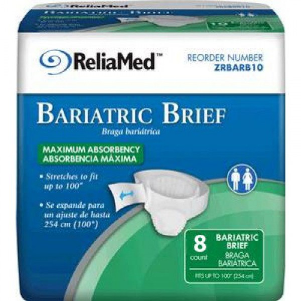 Bariatric Brief Heavy Absorbency by ReliaMed