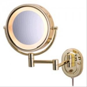 Jerdon 5X HL65G Halo Lighted Wall Mount Mirror