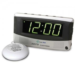 Sonic Boom Alarm Clock AM/FM Radio with Bed Shaker