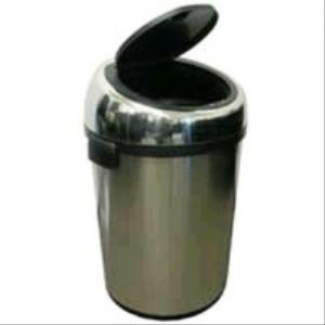 Commercial iTouchless Stainless Steel Trashcan