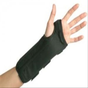 Cock Up Wrist Splint Black Foam