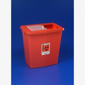 Kendall Chemosafety Sharps Container with Sliding Lid