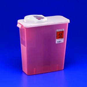 Covidien DialySafety Dialysis Sharps Disposal Container
