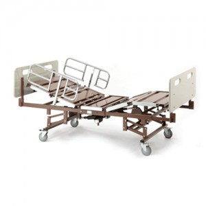 Invacare Full Electric Bariatric Hospital Bed BAR750 with Half Rails