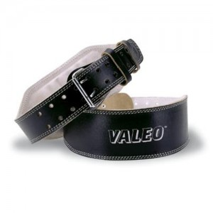 Valeo  Leather Lifting Back Support Belt With Foam Lumbar Pad