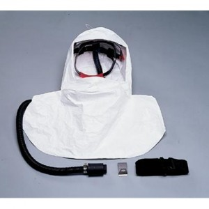 North Safety Saranex Coated Bibbed Hood Assembly W/Breathing Tube