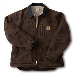 Carhartt  Cotton Duck Sherpa Lined Men's Sandstone Ridge Coat