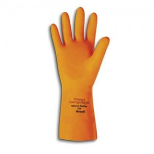 Ansell Extra Heavy Duty Unsupported 29 Mil Latex Flock-Lined Gloves