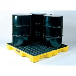Eagle 4 Drum 60 Gallon Polyethylene Modular Spill Containment Platform